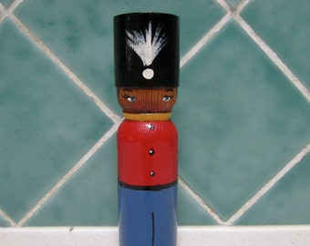 Hand Painted Vintage Wooden Toy Soldier