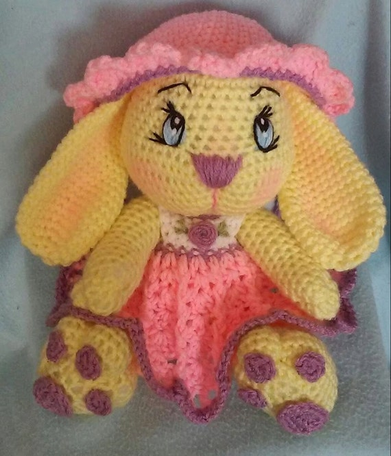 Amigurumi Bunny Girl : Crochet Miss Girl Bunny Amigurumi Pattern Only