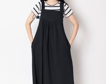 Overall dress, pinapore, apron dress, denim maxi dress, overall denim dress, boho dress, blue denim dress dress,denim pinafore, denim dress