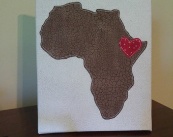 "8"" x 10"" Africa Canvas Honoring Ethiopia Adoption 
