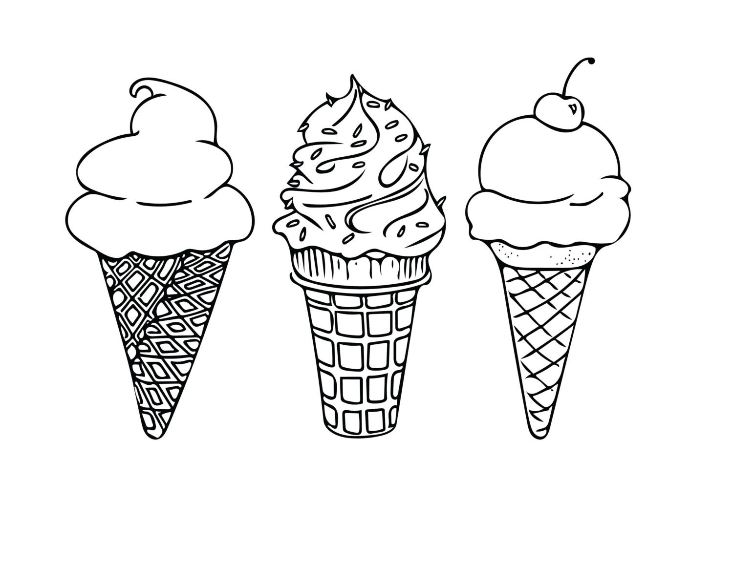 Coloring pictures of ice cream cones -  Ice Cream Cones Coloring Sheet Kids Activities Zoom
