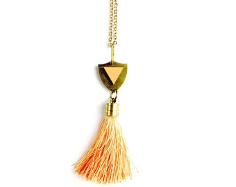 Tassel Necklace // Boho Layered Necklace, Tassel Jewellery, Gold Chain Necklace, UK, Gift for Women, Tassel Jewelry, Tribal Style Necklace