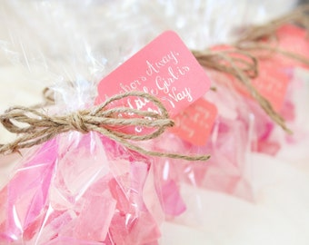 Beach Baby Shower Favors - Pink Baby Shower Favors - It's a Girl - Sea Glass Favors - Nautical Baby Shower - Baby Girl Shower Favors