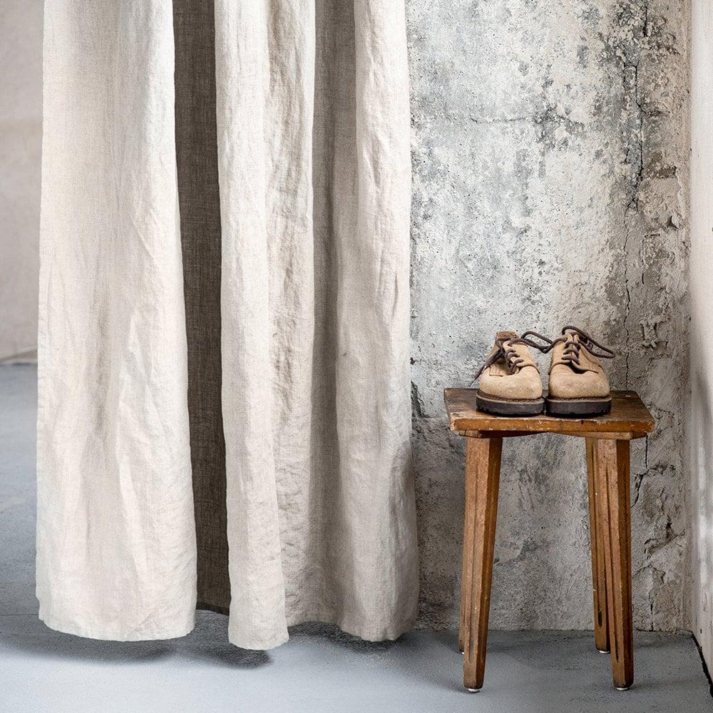 Natural Linen Curtains/ Linen Drapes