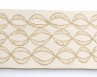 Caramel Waves Serving Platter