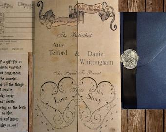 harry potter wedding invitationEtsy