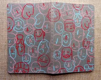 Pocket Moleskin blank notebook   Hand illustrated cover