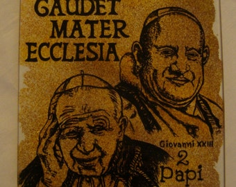 Decorative glass to hang on the wall with the 2 Papi Saints