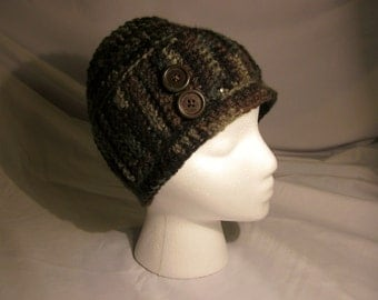Ladies Camo Toque/Beanie/Hat/Crochet