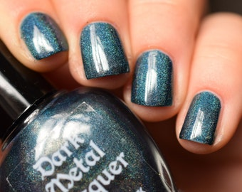You're Not Here - Dark Teal holographic creme nail polish (11ml)