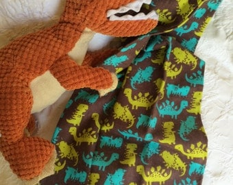 Baby Burp Cloths ~ Dinosaur Dino ~ Oliver Burps ~ Single ~