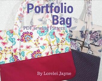 Portfolio Bag PDF Sewing Pattern 2 sizes