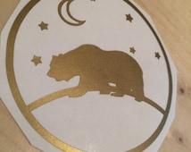 Bear Vinyl Decal, Vinyl Stickers, Laptop Decal, Car Sticker, Laptop Sticker, Car Decal, Sticker, Bear Design Sticker