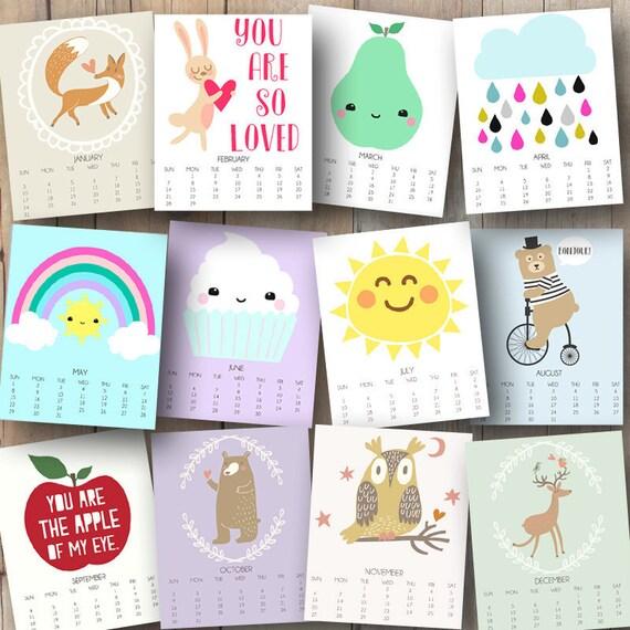 ... 2016 Printable Kids Calendar - Monthly Calendar - Kids Wall Calendar