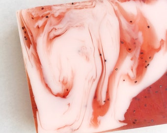 Pink Hibiscus and Berries Shea Butter Soap | vegan friendly soap