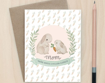 Worth A Million Carrots (Mother's Day) - A2 Greeting Card