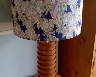 Handmade lampshade using Liberty Small Paradise (Tropical floral pattern)