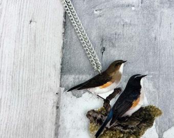 Bluetail Vintage Bird Necklace