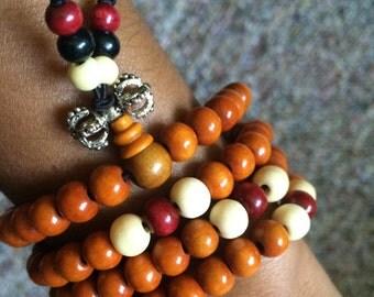 Buddhist Meditation prayer beads bracelet /necklace