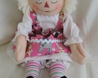 Cloth Doll, Raggedy Ann - 20 inches