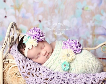 Swaddled in Style Newborn Knitted Baby Cocoon, Photography prop