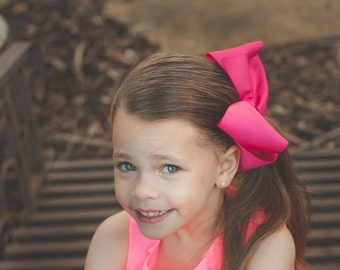 Large Southern Style Bow - Southern Style Hot Pink Bow - Southern Bow - Big Jumbo Pink Bow -Southern Hot Pink Bow - Very Big Hot Pink Bow