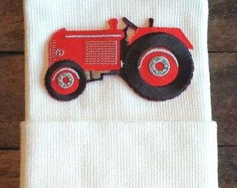 Tractor Hospital Hat - Hospital Hat - Newborn Tractor Hat - Baby Boy Hat - Newborn Baby Boy Hat - Boy Hat - Tractor - Red Tractor Hat - Boy