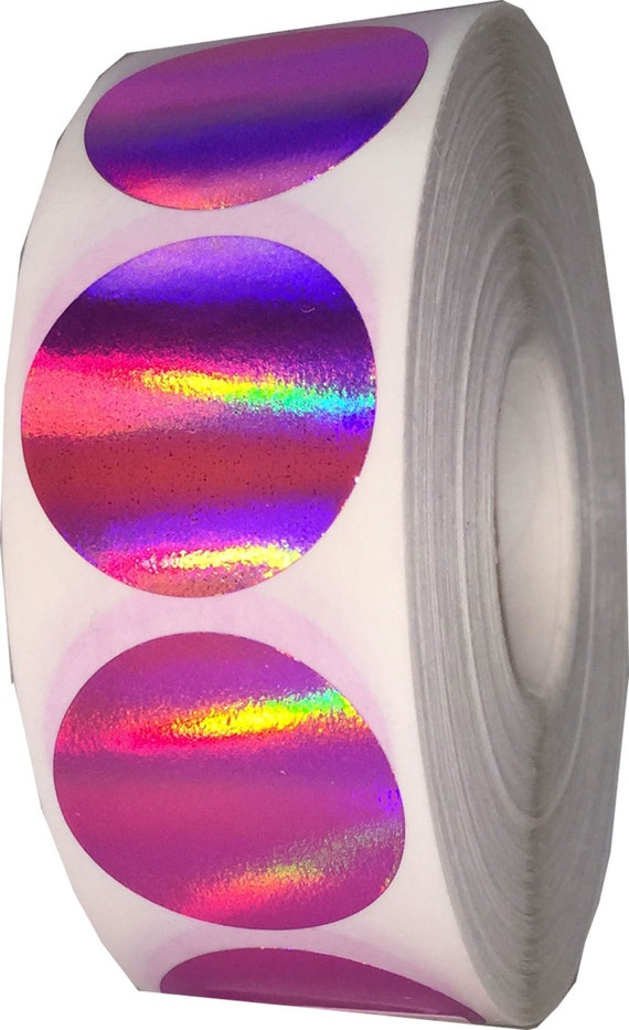 500 Hot Pink Holographic Envelope Seals 1 Quot Inch Round Colored Adhesive Labels From