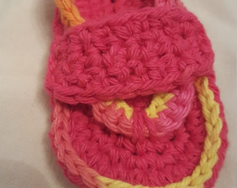 Crochet Baby Sandals, 6-9 months