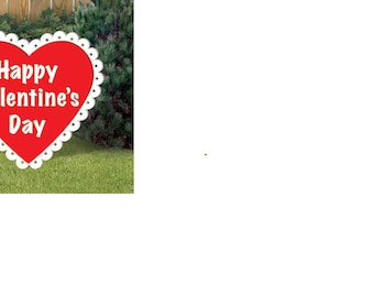 Happy Valentines Day Heart,Wood Yard Art,Outdoor lawn Decoration