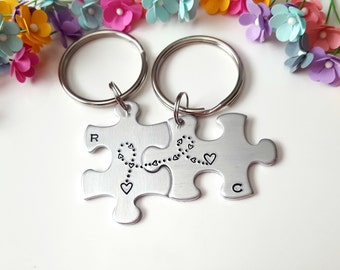 Long Distance Relationship, Anniversary Gifts for Boyfriend, Personalized Keychain, Boyfriend Gift, One Year Anniversary, Matching Couples