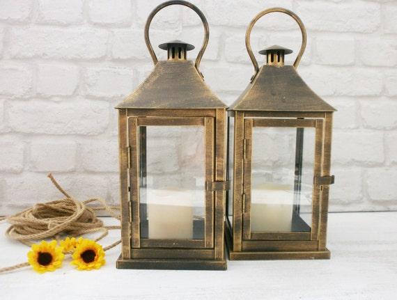 lot de 2 rustique lanterne mariage clairage par vesyartstudio. Black Bedroom Furniture Sets. Home Design Ideas