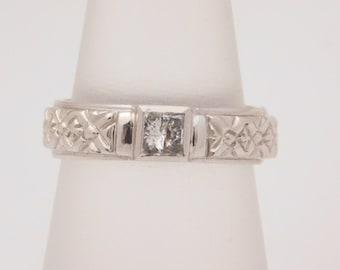 0.30 Carat Princess Cut Diamond Solitaire Ring 14K