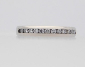 0.15 Carat T.W. Round Cut Diamond Band 14K White Gold Ring