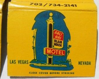 Four (4) Vintage Las Vegas 1970s Bali Hai Motel Matchbooks