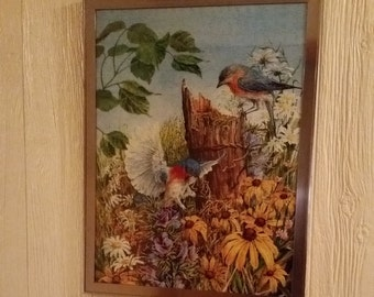 Bluebirds In Spring/ framed puzzle