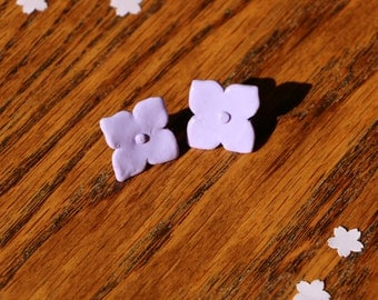 Handmade hydrangea flower earrings