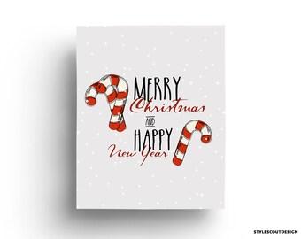 Christmas printable wall art - decor, Christmas decoration - 60% OFF