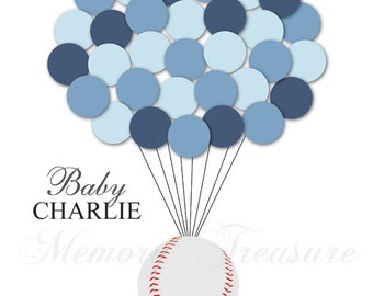 Baseball Guest Book Baby Shower Guest Book Alternative Birthday Guest Book Alternative Children Kids Guest Book Poster Baseball Guestbook