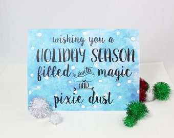 Disney Christmas Card - magical watercolor holiday cards set of 10