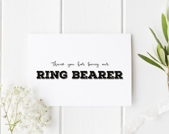 Thank You For Being Our Ring Bearer, Wedding Ring Bearer Thank You Card, Groomsman Thankyou Card, Usher Card, Page Boy Thank You
