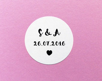 Personalised Wedding Label, Save The Date Sticker, Wedding Invite Sticker, Custom Wedding Sticker, Envelope Seals, Custom Wedding Labels