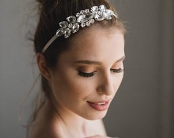Crystal Bridal Headband | Wedding Hair Band | Rhinestone Hair Piece | Bridal Headpiece | Vera Headband