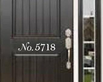 Door/house vinyl numbers