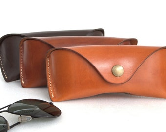 Glasses case for Aviators÷Wayfarers vegetable tanned leather