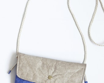 Minimalist Tyvek Paper Flap Bag, Lightweight Flap Bag / Handbag / Crossbody Bag / Shoulder Bag, Personalized Tyvek Paper Small Carry On Bag