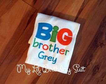 Big Brother Shirt Colors can be Changed Siblings and Cousins Too!