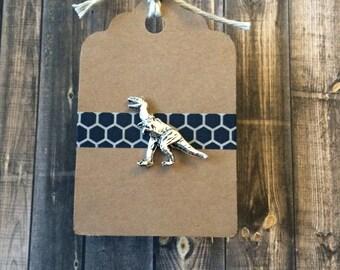 T-Rex/Tyrannosaurus Rex Dinosaur Lapel Pin / Tie Tack - Silver Tone