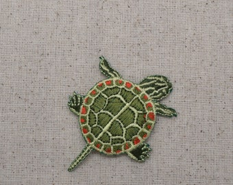 Painted Turtle - Iron on Applique - Embroidered Patch - 1516844A