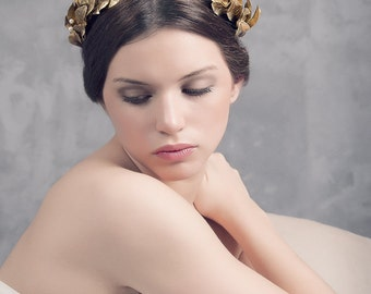 Grecian headpiece. Gold leaves headpiece. Bridal headpiece. Grecian gold headpiece. Wedding headpiece. Style 503